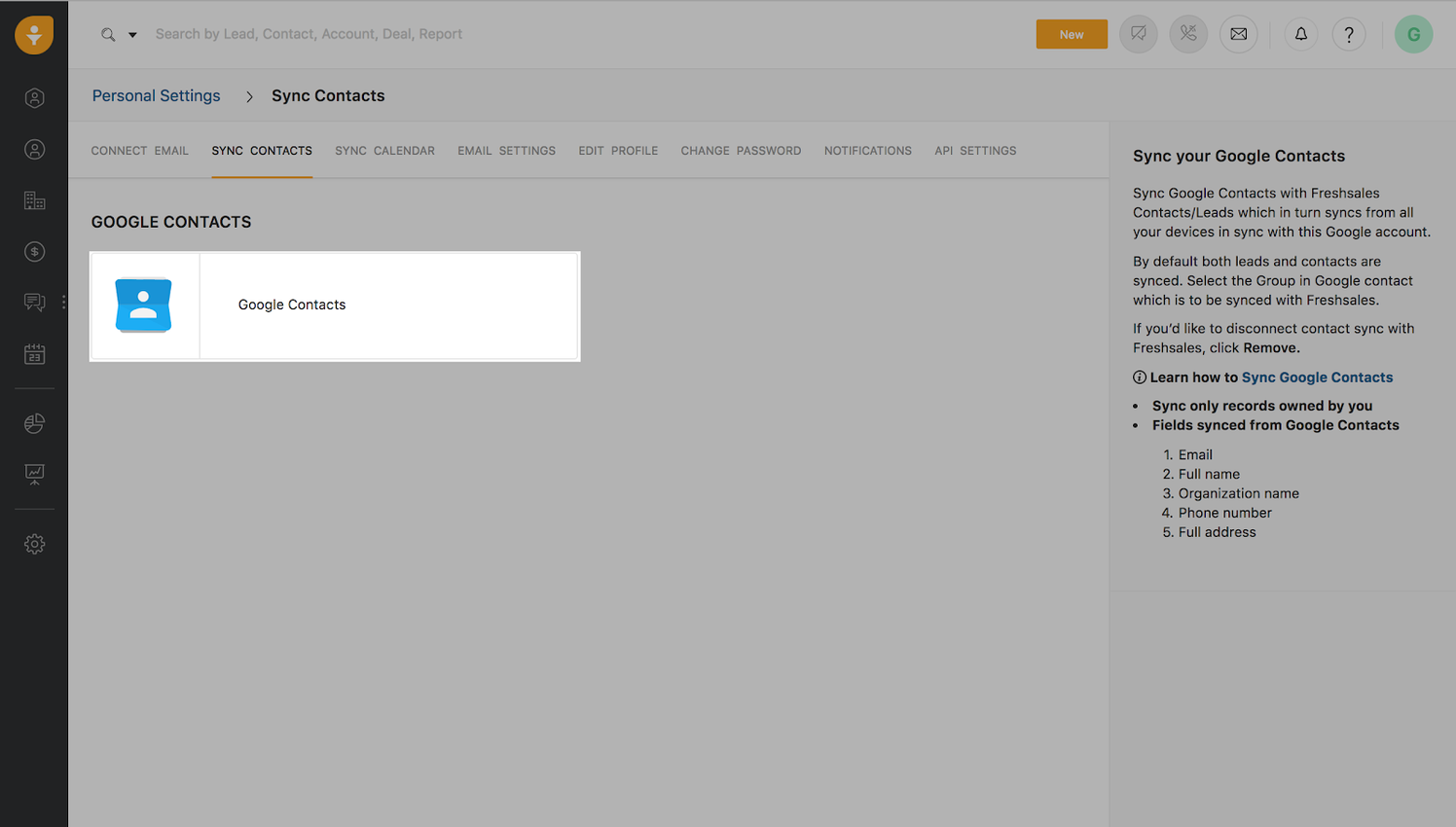Google Contacts - Freshworks Marketplace